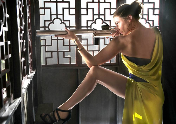 Rebecca Ferguson in Mission Impossible - Rogue Nation.