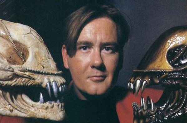 Peter Briggs poses with an Alien skull. The Hunt Begins: The Early Days of Peter Briggs' Alien vs. Predator