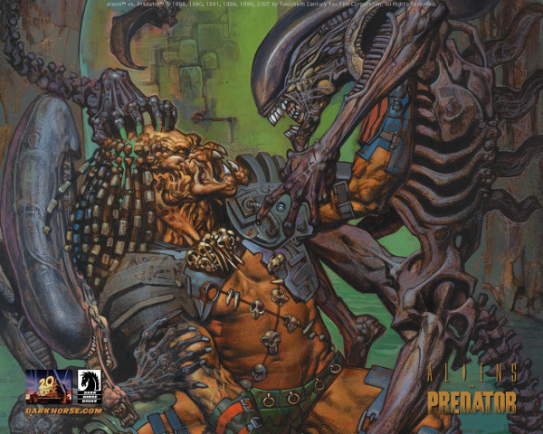 Cover art for issue #3 of AvP Eternal and the TBP.  The Hunt Begins: The Early Days of Peter Briggs' Alien vs. Predator