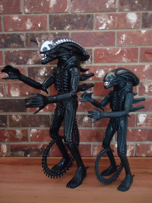 The Gentle Giant Alien replica alongside the original Kenner figure. Gentle Giant Alien Replica Review