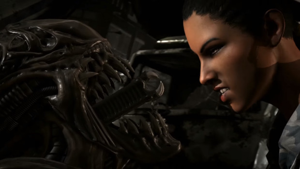 The Alien shows off its headbiting skills in the first Mortal Kombat X Alien Gameplay Mortal Kombat X Alien Gameplay - Kombat Pack 2 Trailer Available!