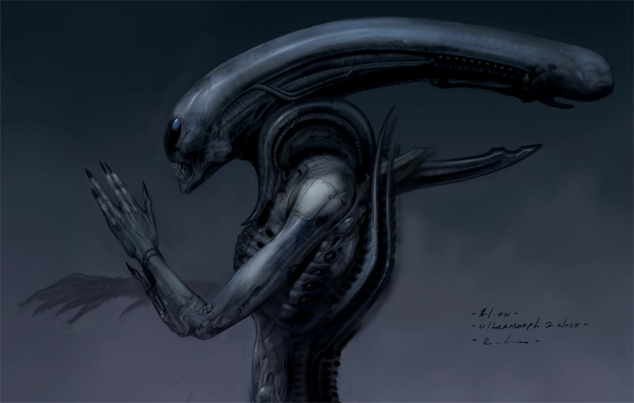 Our 33rd episode is the Alien: Engineers podcast where we discuss the earlier Prometheus scripts by Jon Spaiht's. This concept art is of the Ultramorph from the end of the script. Alien: Engineers Podcast - AvPGalaxy Podcast #33