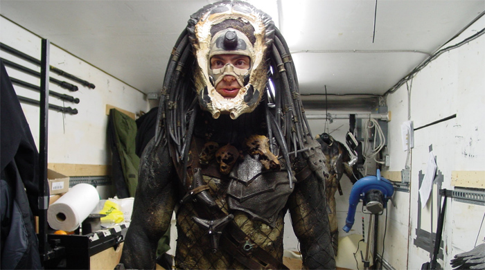 Ian Whyte in full Predator (minus the mask!) costume as Wolf.  Ian Whyte Interview (2)