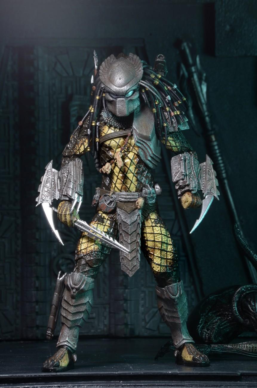 "NECA Series 15 SET of Temple Guard Predator 7/"" Scale Action Figure"