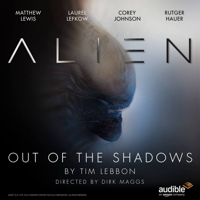 The cover art for Alien - Out of the Shadows audio drama. Alien - Out of the Shadows Audio Drama Review