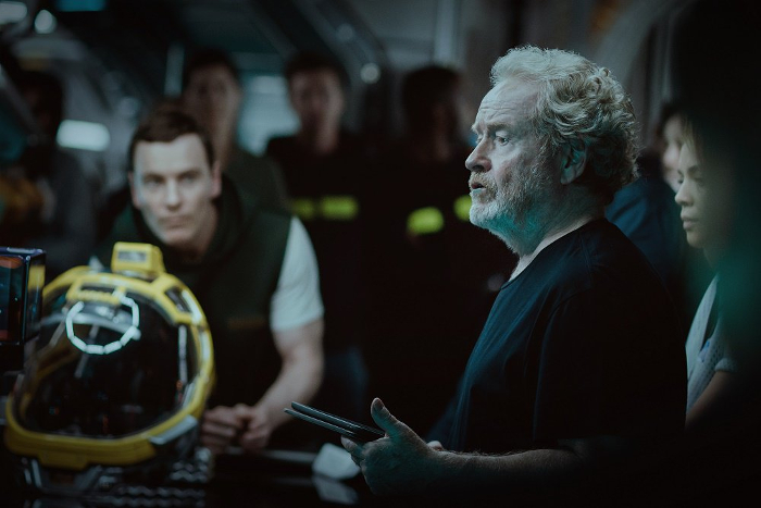 New Picture Of Ridley Scott & Michael Fassbender on the Set of Alien: Covenant! New Picture of Ridley Scott & Michael Fassbender on the Set of Alien: Covenant!