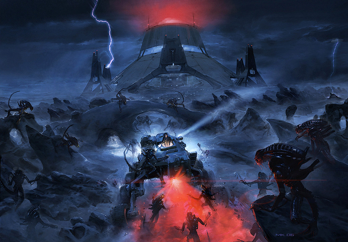 The 37th episode of the Alien vs. Predator Galaxy podcast is an interview with Alex Moore. The artwork is concept art by Mark Harrison for the game. Interview with Alex Moore - AvPGalaxy Podcast #37