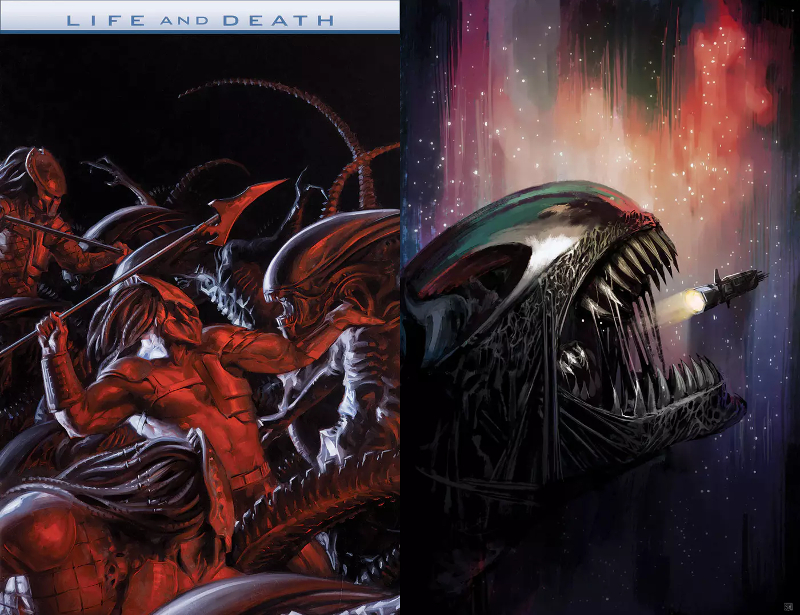 AvP: Life and Death #2 cover art by David Palumbo and Aliens: Defiance #9 cover art by and Stephanie Hans. Comic Updates! AvP: Life & Death #2, Aliens: Defiance #9 & Aliens: Life and Death #2 Preview!