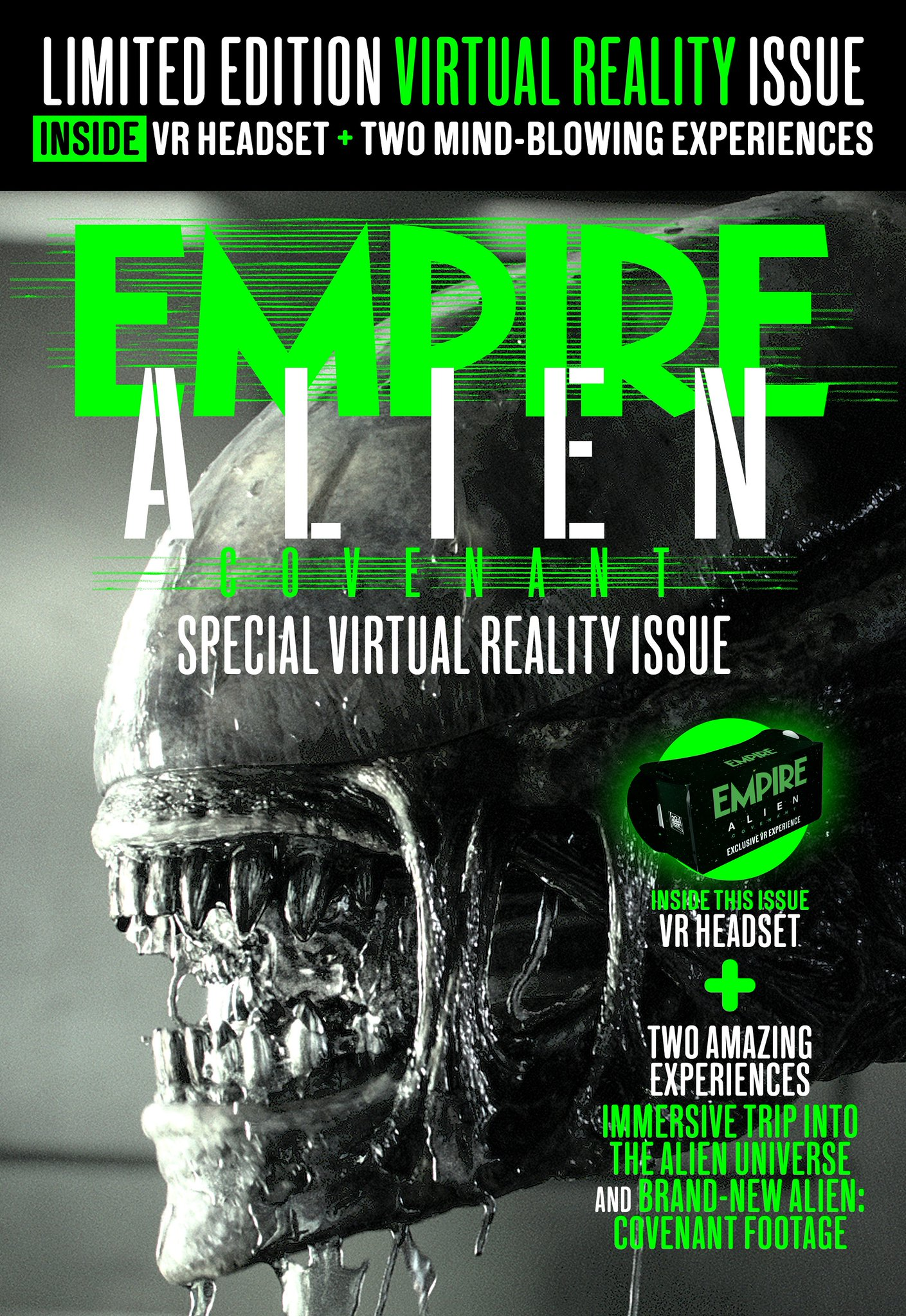 Empire's Limited Edition Alien: Covenant Alien Day Virtual Reality Issue Announced!