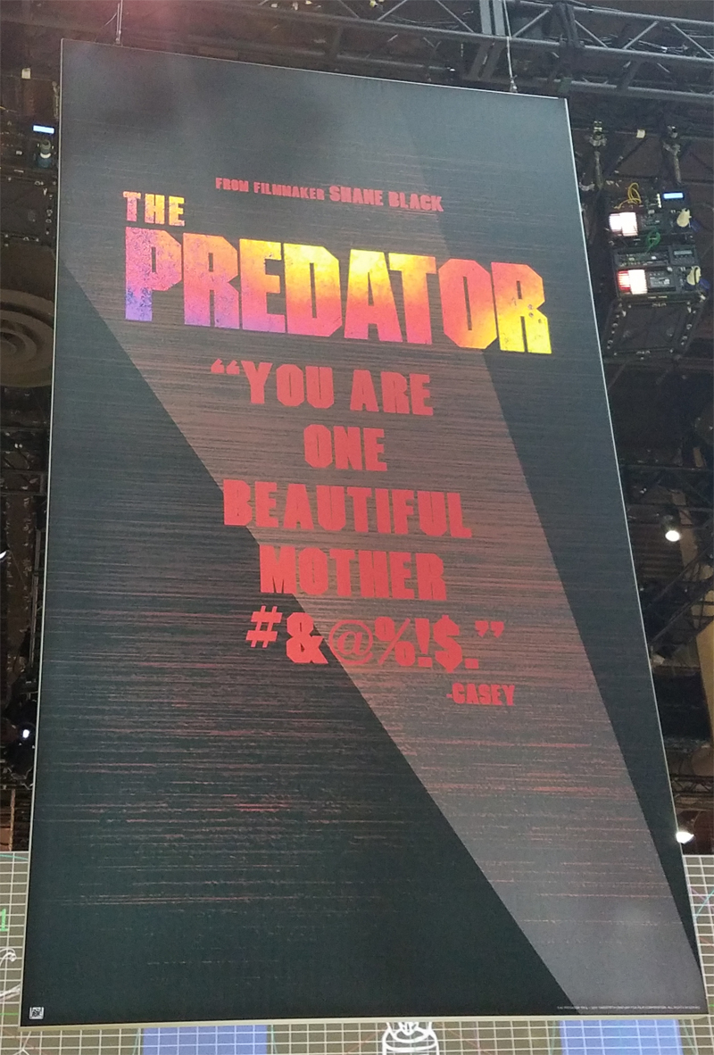 The Predator Teaser Poster Spotted at Licensing Expo