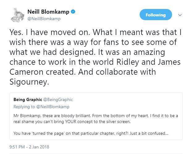 """Neil Blomkamp Has """"Moved On"""" From Alien 5"""