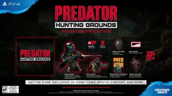 Predator: Hunting Grounds Now Available for Pre-Order! Digital Deluxe Edition, New Screenshots & More Pre-Order Incentives!