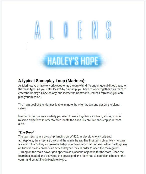 Frederik Schreiber Shares More Aliens: Hadley's Hope Details
