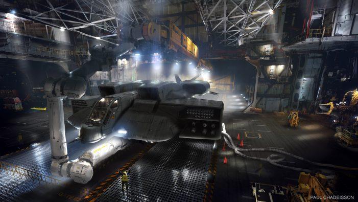 Concept Artist TyRuben Ellingson Shows Off Alien 5 Sky Crane Dropship!