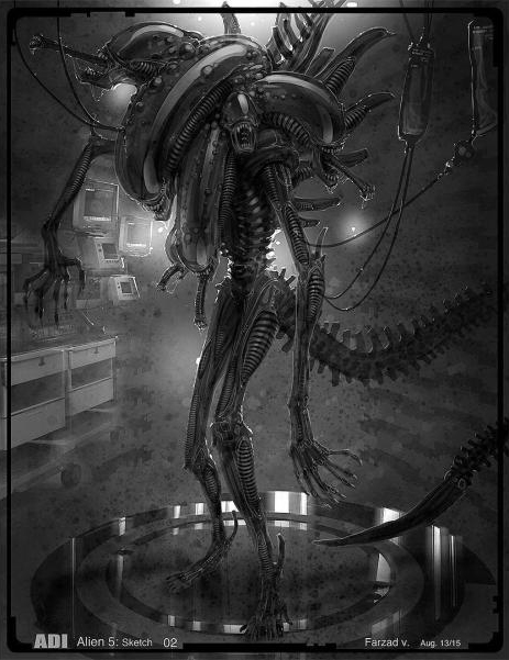 Farzad Vrahramyan Shares New Alien 5 Concept Art!