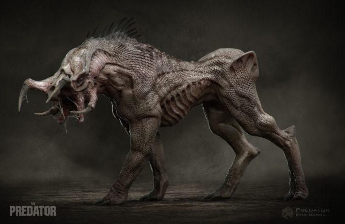 Kyle Brown Shares New The Predator Artwork! Mutated Predator & Predator Hound