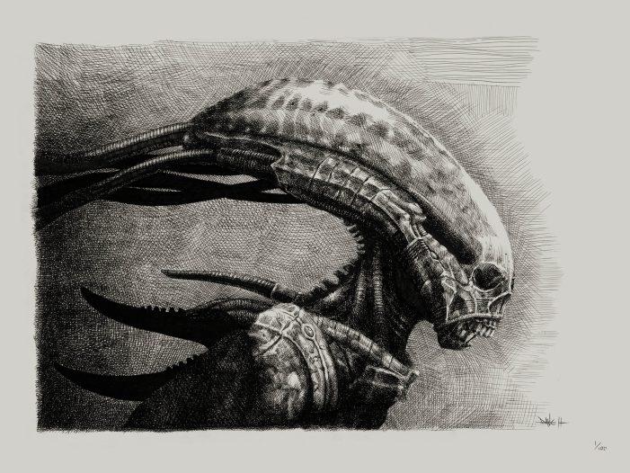Dane Hallett Opens Webstore, Selling Alien: Covenant Art!