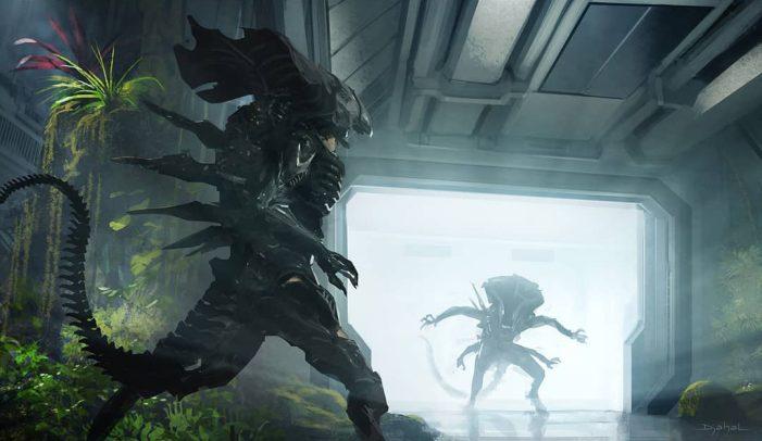 New Alien-Focused Alien 5 Concept Art Shared By Geoffroy Thoorens!