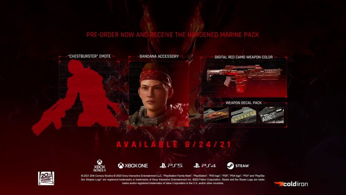 It's Official! Aliens: Fireteam Elite Releases August 24th, New Trailer & Pre-Order Incentive