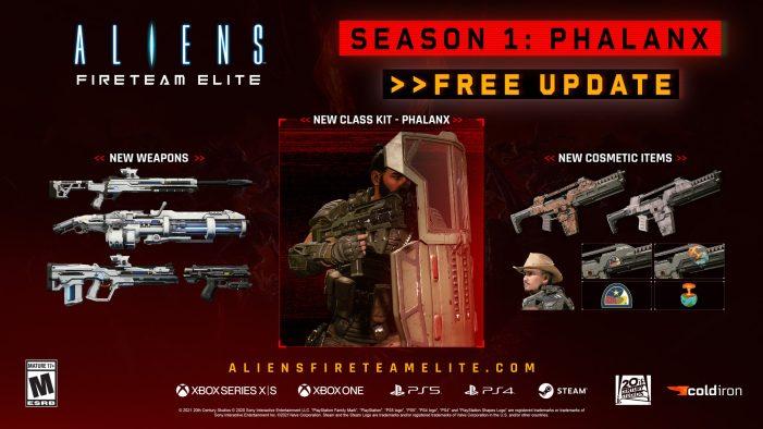The Phalanx Has Arrived! Aliens: Fireteam Elite Season One Content Update Now Live!