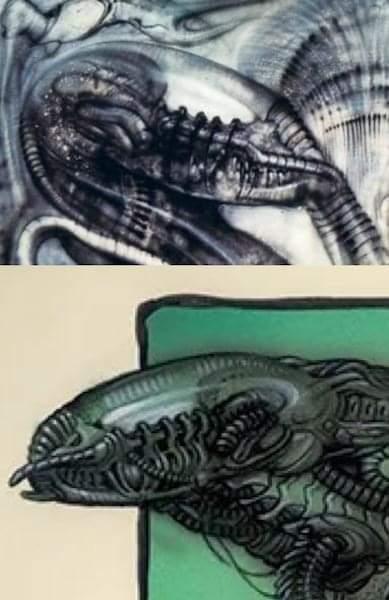 "Illustrator William Stout Reveals Early Concept Art for ""Predator"" including a Gigeresque Design!"
