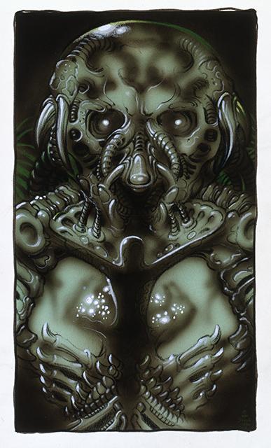 "Artist William Stout Shares Another Unique ""Predator"" Creature Concept"